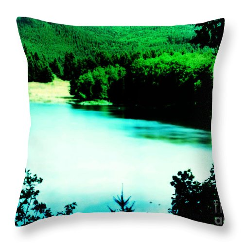 Landscapes Throw Pillow featuring the photograph Gorge Waterway Victoria British Columbia by Eddie Eastwood
