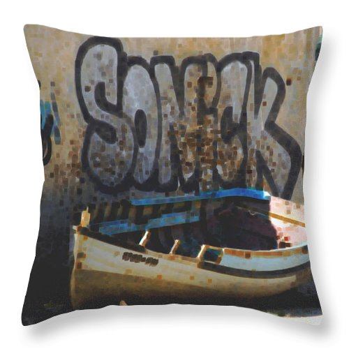 Macro Throw Pillow featuring the photograph Sonick by Dave Byrne