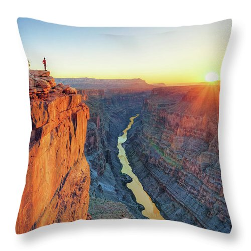Scenics Throw Pillow featuring the photograph Grand Canyon, Toroweap Lookout by Michele Falzone