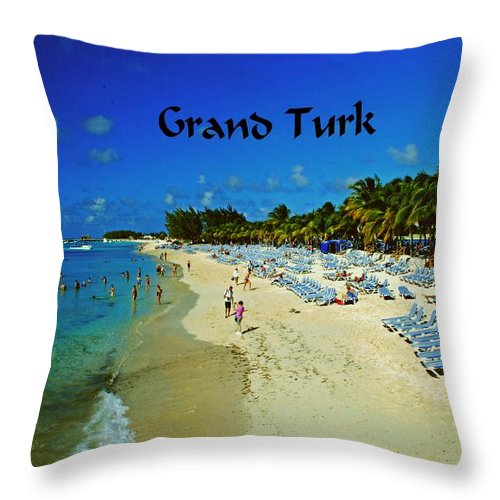 Beach Throw Pillow featuring the photograph Grand Turk by Gary Wonning