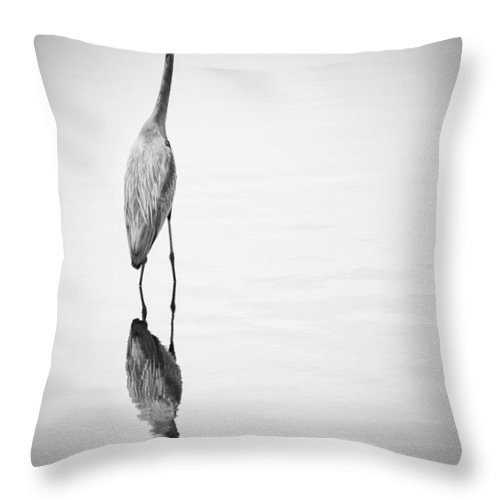 Great Blue Heron Throw Pillow featuring the photograph Great Blue by Carolyn Fox