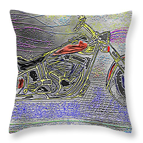 Original Throw Pillow featuring the digital art Ground Pounder December Nineteen Ninety Nine - B by Carl Deaville