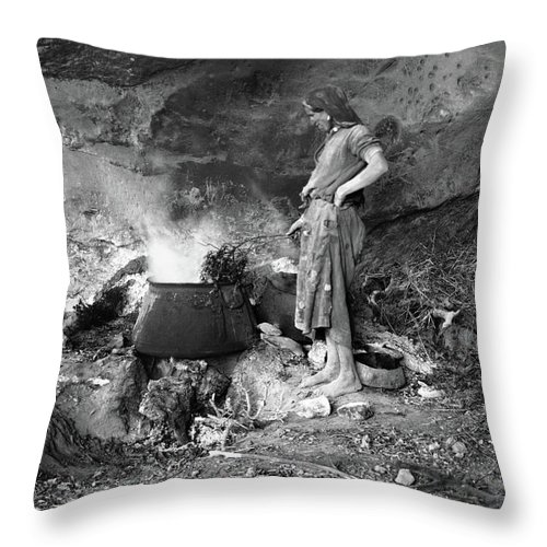 20th Century Throw Pillow featuring the photograph Gunpowder Manufacture by Granger