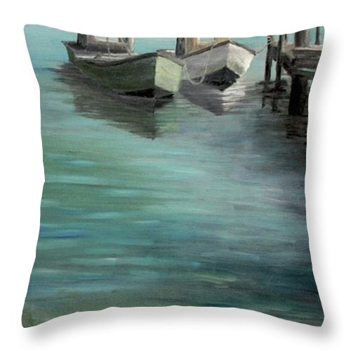 Seascape Throw Pillow featuring the painting Happy Hour by Susan Richardson