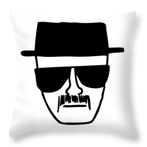 Heisenberg Throw Pillow featuring the digital art Heisenberg Breaking Bad by Geek N Rock