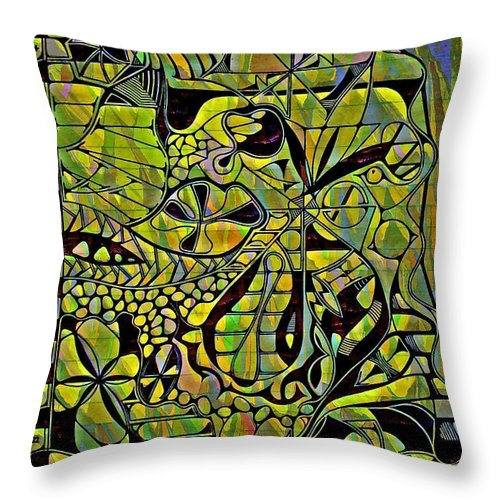 Homework Throw Pillow featuring the drawing Homework by Gwyn Newcombe