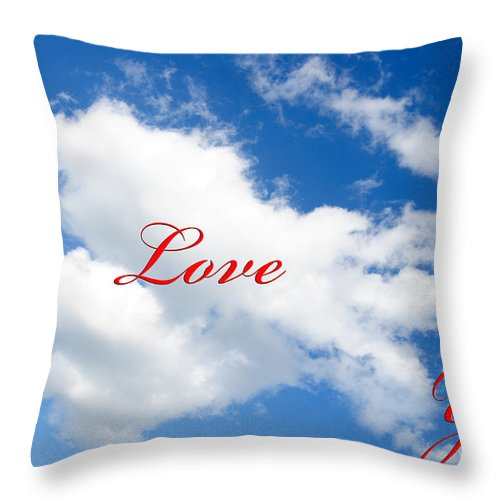 Andee Design Clouds Throw Pillow featuring the photograph 1 I Love You Heart Cloud by Andee Design