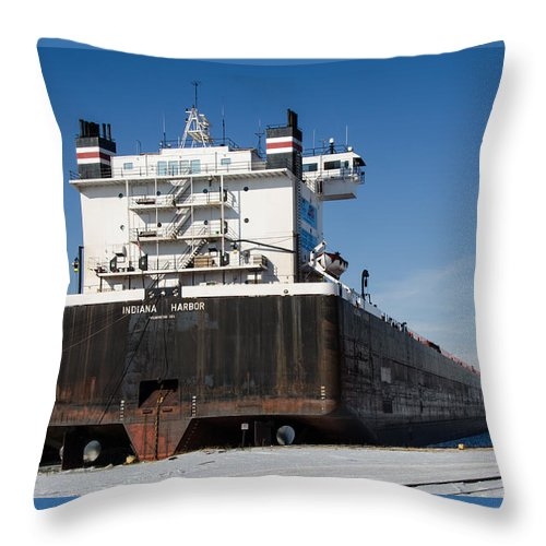 Indiana Harbor Throw Pillow featuring the photograph Indiana Harbor 4 by Susan McMenamin
