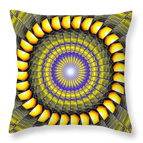 Sacredlife Mandalas Throw Pillow featuring the drawing Infinity Gateway Nine Kaleidoscope by Derek Gedney