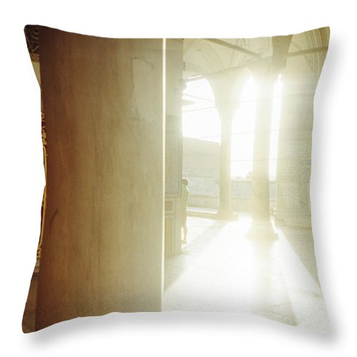 Photography Throw Pillow featuring the photograph Interiors Of Topkapi Palace by Panoramic Images