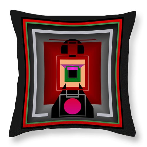 Wall Art Throw Pillow featuring the digital art Japan by Raul Ugarte