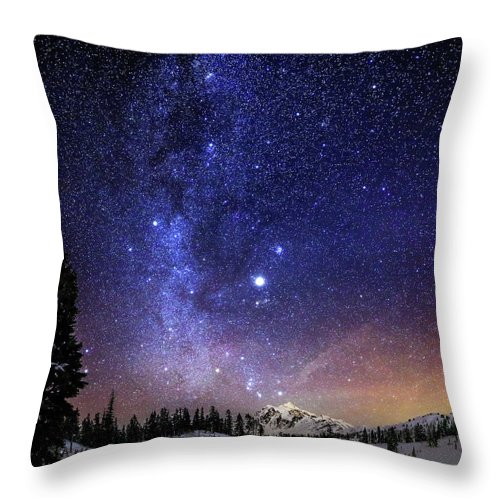 Scenics Throw Pillow featuring the photograph Jupiter Rising by Alexis Birkill