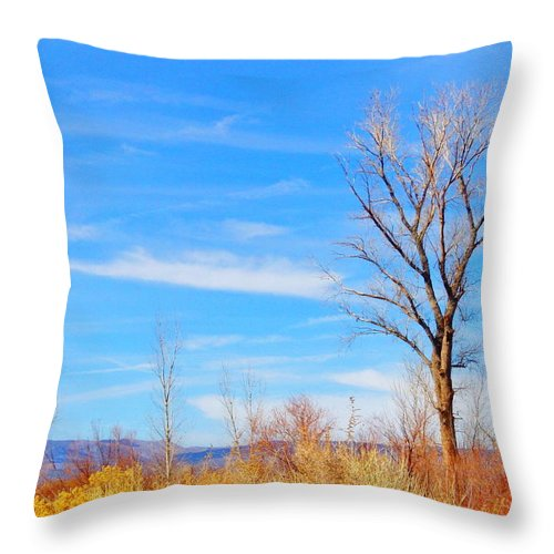 Sky Throw Pillow featuring the photograph Just Swaying by Marilyn Diaz