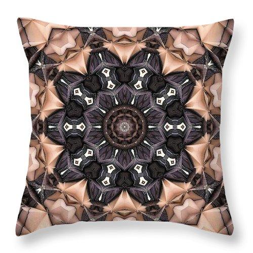 Kaleidoscope Throw Pillow featuring the digital art Kaleidoscope 48 by Ron Bissett