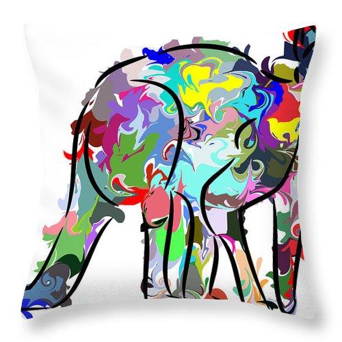 Kangaroo Throw Pillow featuring the digital art Kangaroo by Chris Butler