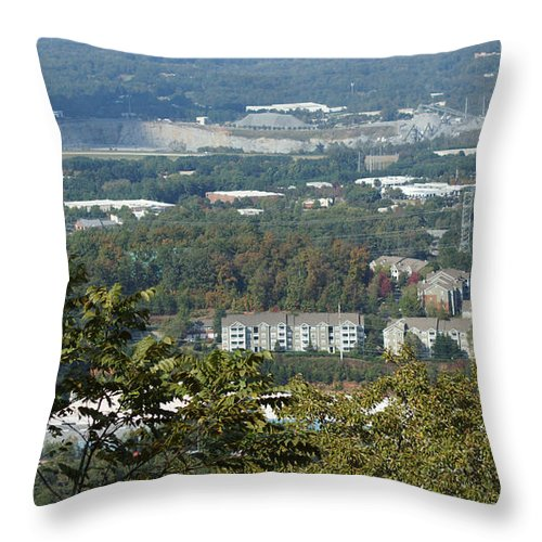 Autumn Leaves Throw Pillow featuring the photograph Kennesaw Battlefield Mountain by Rafael Salazar