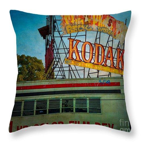 Kodak Throw Pillow featuring the photograph Kodak's Moment by Doug Sturgess