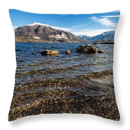 Lake Throw Pillow featuring the photograph Lago Di Pusiano by Alfio Finocchiaro