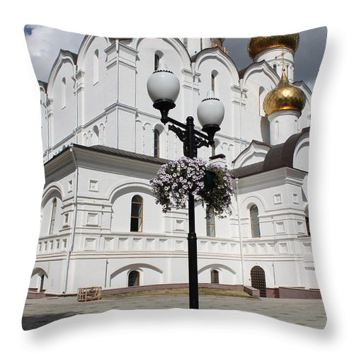 Red Throw Pillow featuring the photograph Lantern by Evgeny Pisarev