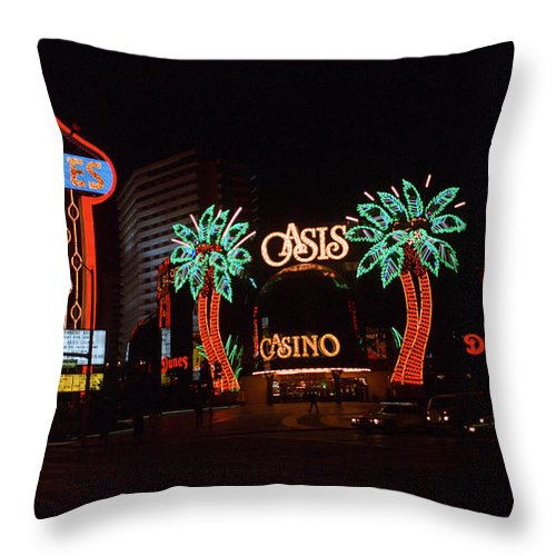 America Throw Pillow featuring the photograph Las Vegas 1983 #2 by Frank Romeo