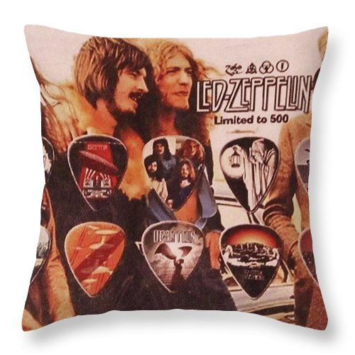 Led Zeppelin Throw Pillow featuring the photograph Led Zeppelin Art by Donna Wilson