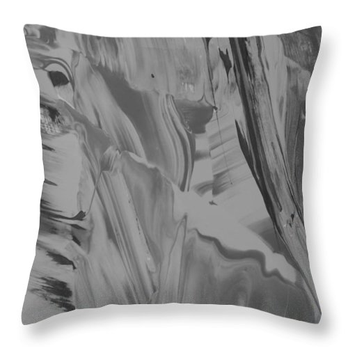 Original Throw Pillow featuring the painting Letting Go by Artist Ai