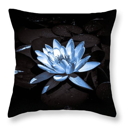 Black And White Lily Throw Pillow featuring the photograph Lily by Sherman Perry