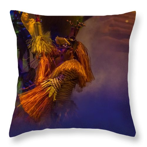 Lionking Throw Pillow featuring the photograph Lion King Dancers by Daren Johnson