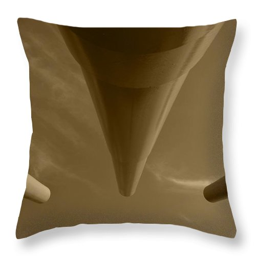 Barrel Throw Pillow featuring the photograph Looking Down The Barrel by Richard Booth