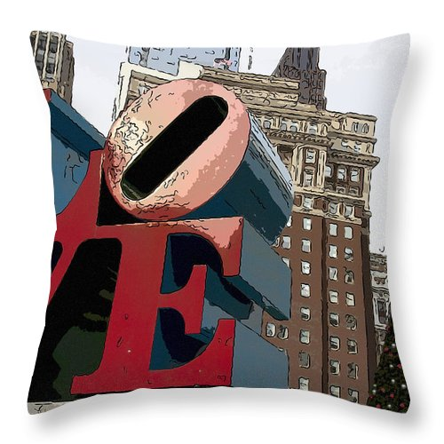 Love Park Throw Pillow featuring the photograph Love In The Park by Alice Gipson