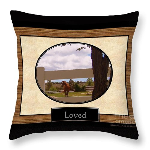 Loved Throw Pillow featuring the photograph Loved Inspirational by Bobbee Rickard