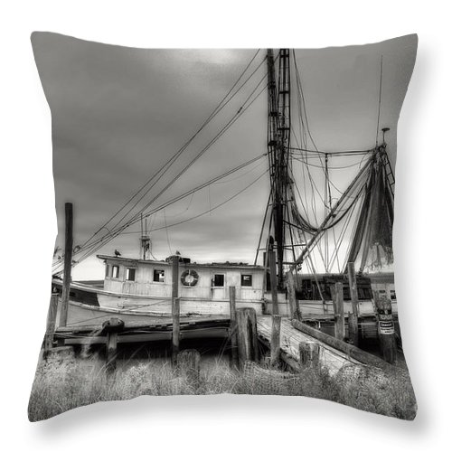 Shrimp Boat Throw Pillow featuring the photograph Lowcountry Shrimp Boat by Scott Hansen