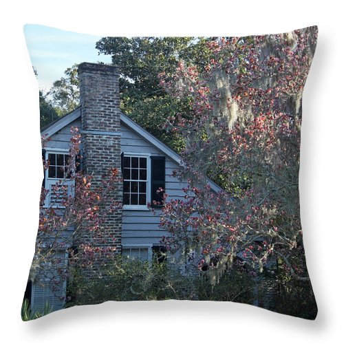 Magnolia Throw Pillow featuring the photograph Magnolia Heaven by Suzanne Gaff