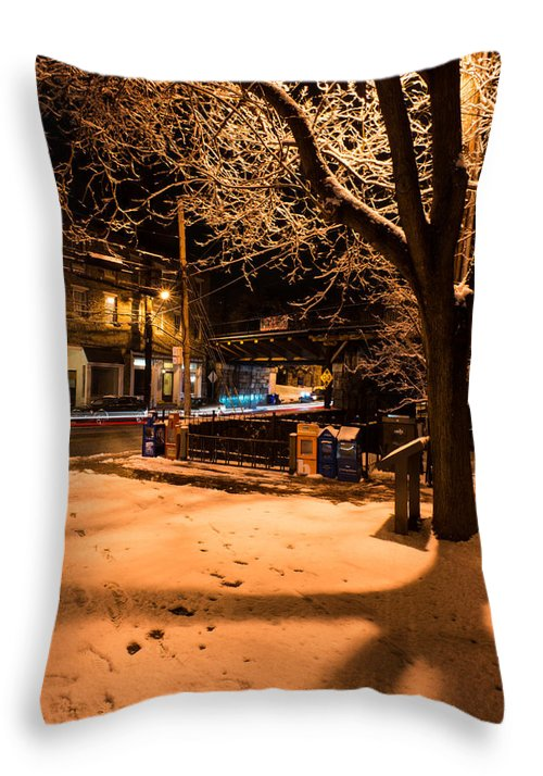 Throw Pillow featuring the photograph Main Street At Old B And O Station by Dana Sohr
