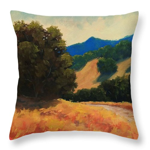 Marin Throw Pillow featuring the painting Marin by Steven Guy Bilodeau