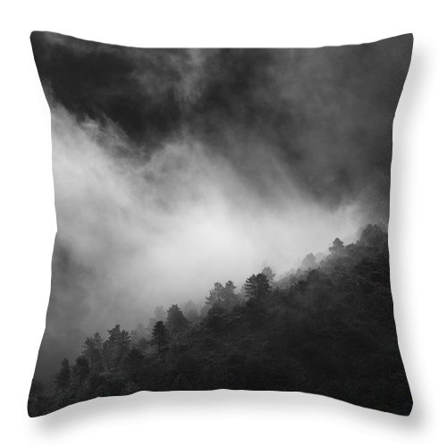 Black And White Throw Pillow featuring the photograph Memories by Guido Montanes Castillo