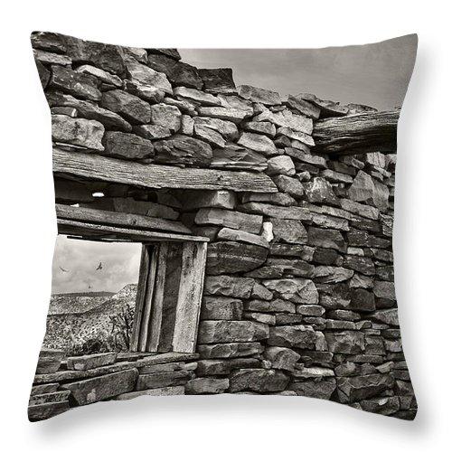Mesa View Throw Pillow featuring the photograph Mesa View by Karen Slagle