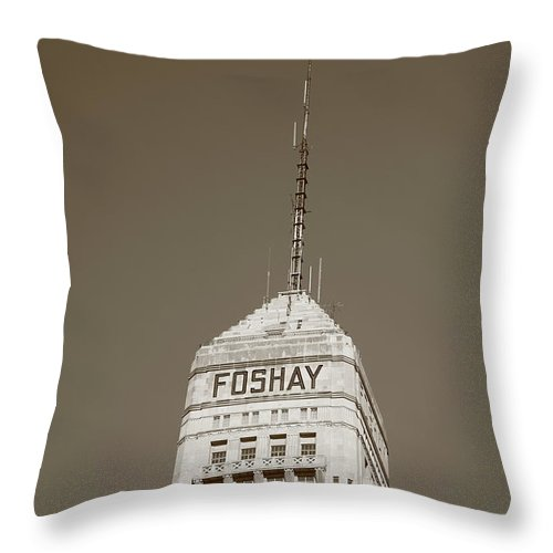 America Throw Pillow featuring the photograph Minneapolis Tower by Frank Romeo