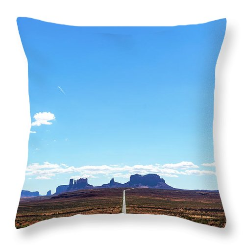 Monument Valley Road Route 163 Throw Pillow For Sale By Deimagine