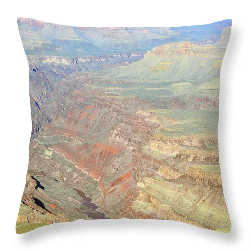 Grand Canyon Throw Pillow featuring the photograph Morning Colors Of The Grand Canyon Inner Gorge by Shawn O'Brien