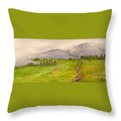 Paintings Throw Pillow featuring the painting Morning Fog by Regan J Smith