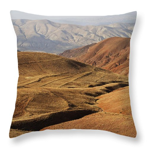 Iran Throw Pillow featuring the photograph Mountain Scenary Near Zanjan In Iran by Robert Preston