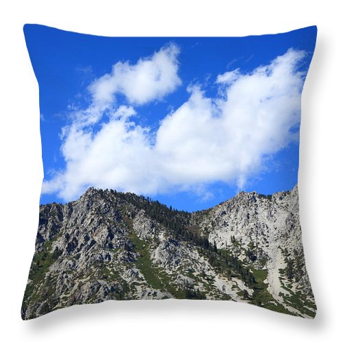 Alpine Throw Pillow featuring the photograph Mountainside Near Lake Tahoe by Frank Romeo