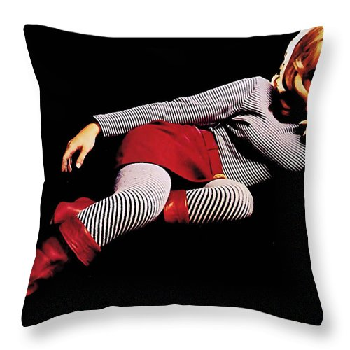 Nancy Sinatra Photographs Throw Pillow featuring the mixed media Nancy Sinatra by Marvin Blaine