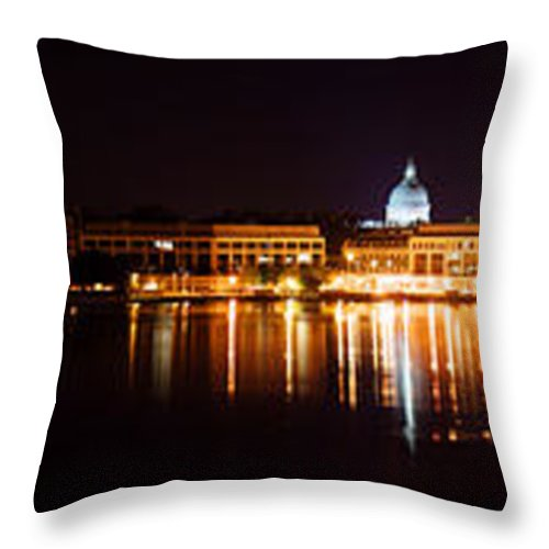 Naval Throw Pillow featuring the photograph Naval Academy In Annapolis 2 by Benjamin Reed