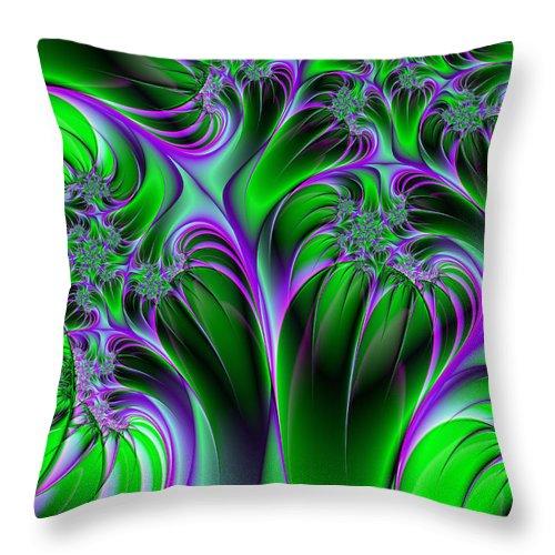 Digital Art Throw Pillow featuring the digital art Neon Fantasy by Gabiw Art