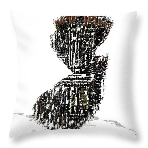 New Jersey Throw Pillow featuring the digital art New Jersey by Brian Reaves