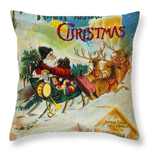 19th Century Throw Pillow featuring the photograph Night Before Christmas by Granger