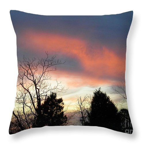 Sky Throw Pillow featuring the digital art Night Falling by Matthew Seufer