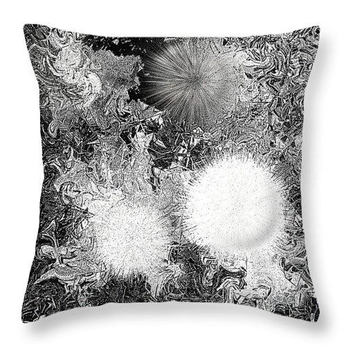 Throw Pillow featuring the digital art No. 801 by John Grieder